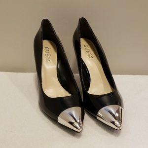 GUESS Metallic Pointy Toe Heel